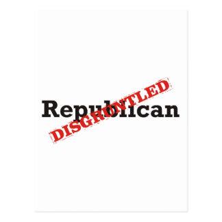 Republican / Disgruntled Postcard
