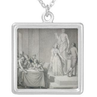 Republican Divorce Square Pendant Necklace