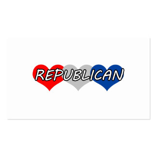 Republican Double-Sided Standard Business Cards (Pack Of 100)
