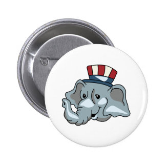 REPUBLICAN ELEPHANT 2 INCH ROUND BUTTON
