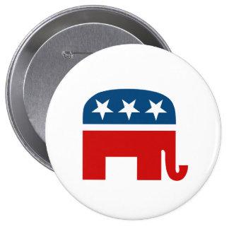 Republican Elephant 4 Inch Round Button