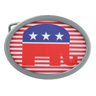 republican elephant belt buckle