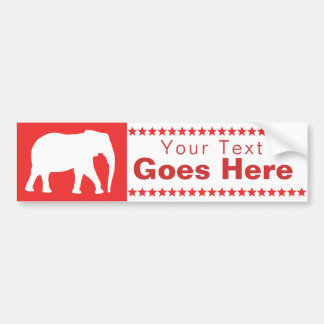 Republican Elephant Bumper Sticker
