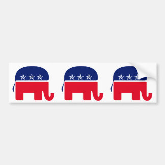 Republican Elephant Bumper Sticker