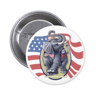 Republican Elephant Button