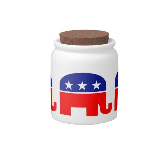 republican elephant candy jar