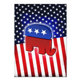 Republican Elephant Card