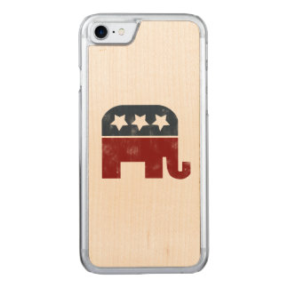republican elephant carved iPhone 8/7 case