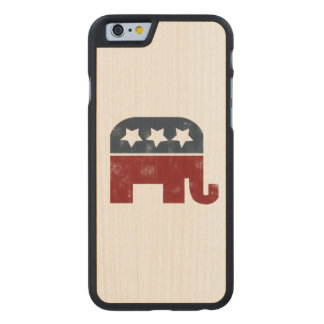 republican elephant carved maple iPhone 6 case