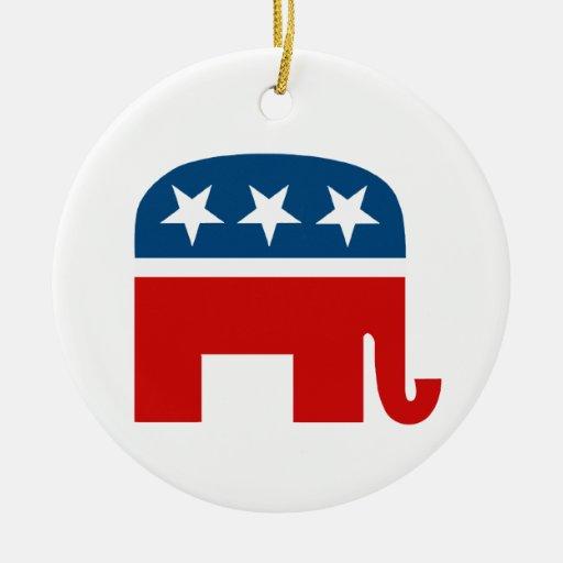 Republican Elephant Ceramic Ornament