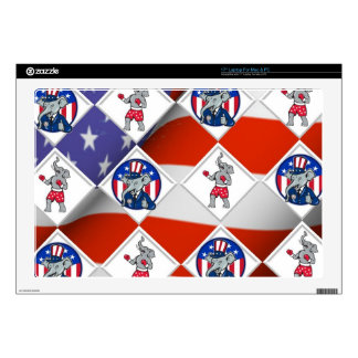 "Republican Elephant Champion 17"" Laptop Skins"