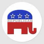 Republican Elephant Classic Round Sticker