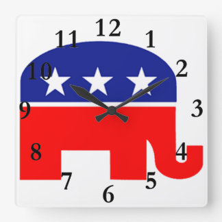 republican elephant clock