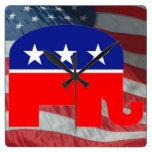 republican elephant clock