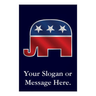 Republican Elephant Custom Poster
