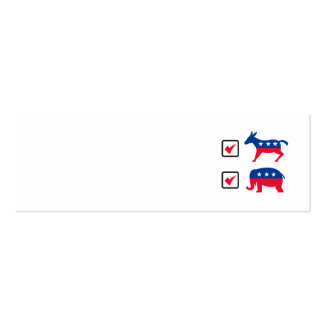 Republican Elephant Democrat Donkey Election Ballo Business Card Template