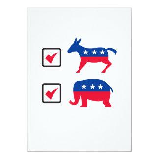 Republican Elephant Democrat Donkey Election Ballo Announcements