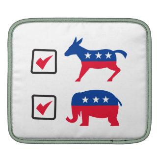 Republican Elephant Democrat Donkey Election Ballo iPad Sleeve