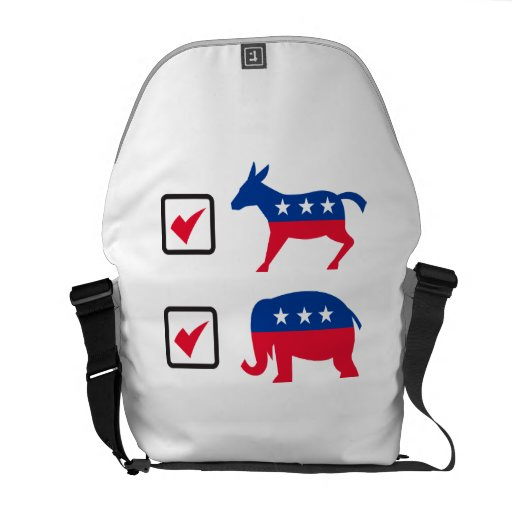 Republican Elephant Democrat Donkey Election Ballo Messenger Bags