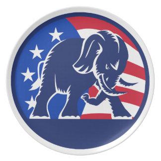 Republican Elephant Flag Dinner Plates