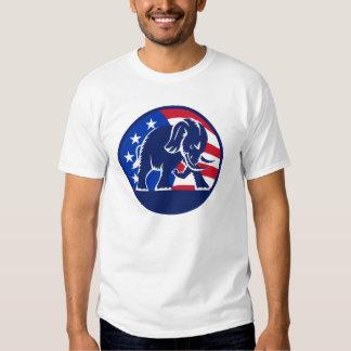 Republican Elephant Flag T Shirt
