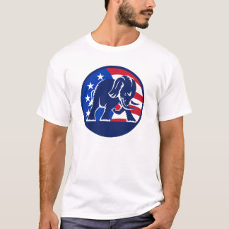 Republican Elephant Flag T-Shirt