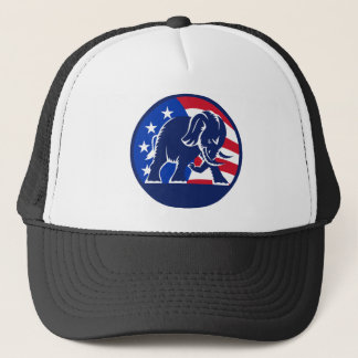 Republican Elephant Flag Trucker Hat