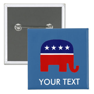 Republican Elephant / GOP Elephant Button