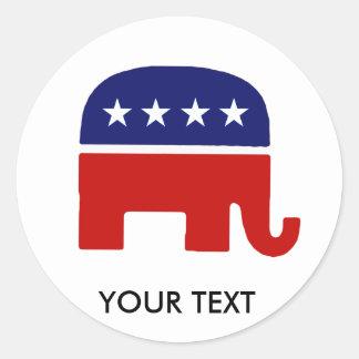 Republican Elephant / GOP Elephant Classic Round Sticker