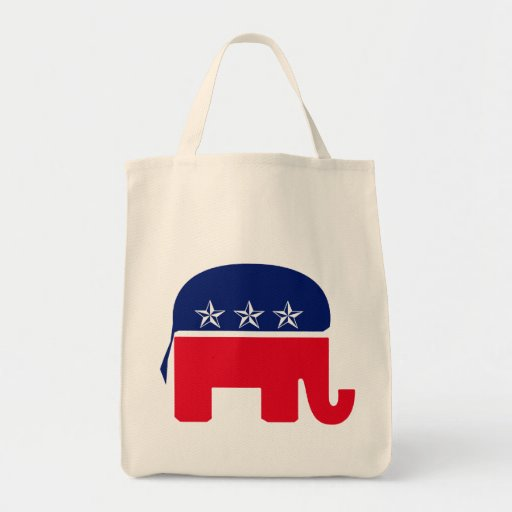 Republican Elephant Grocery Tote Bag