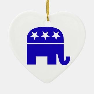 Republican Elephant Heart Ornament