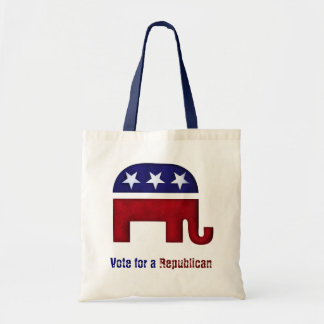 Republican elephant logo bags