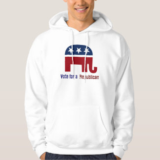 Republican elephant logo hooded pullover
