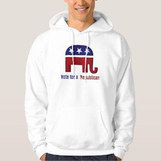 Republican elephant logo hooded sweatshirt