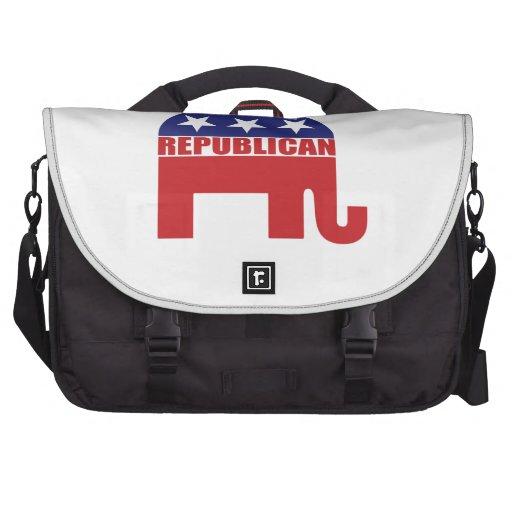 Republican Elephant Logo Laptop Messenger Bag