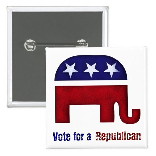 Republican elephant logo pin