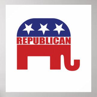Republican Elephant Logo Poster
