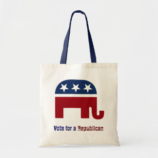Republican elephant logo tote bag