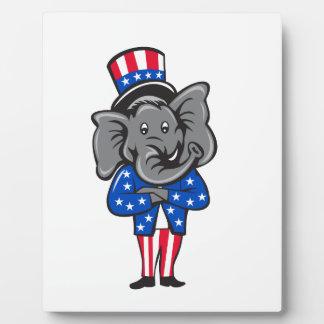 Republican Elephant Mascot Arms Crossed Standing C Plaque
