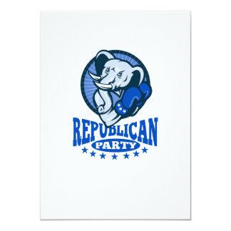 Republican Elephant Mascot Boxer 4.5x6.25 Paper Invitation Card