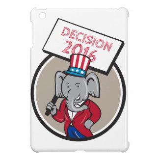 Republican Elephant Mascot Decision 2016 Circle Ca Cover For The iPad Mini