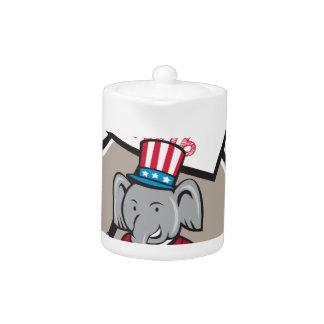 Republican Elephant Mascot Decision 2016 Circle Ca Teapot