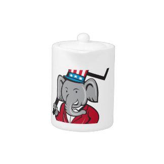 Republican Elephant Mascot Decision 2016 Placard C Teapot