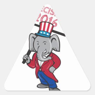 Republican Elephant Mascot Decision 2016 Placard C Triangle Sticker