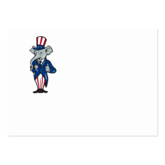 Republican Elephant Mascot Thumbs Up USA Flag Business Card