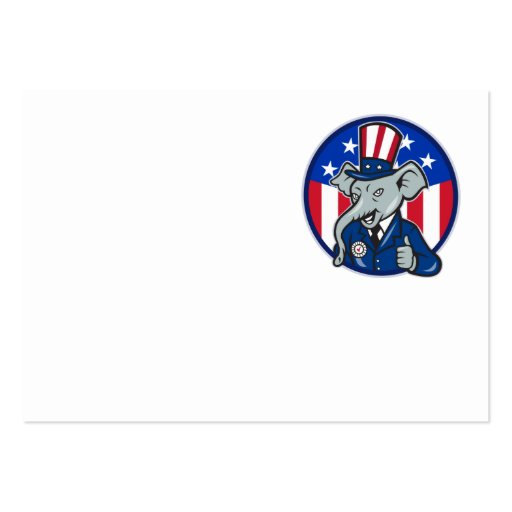 Republican Elephant Mascot Thumbs Up USA Flag Business Card