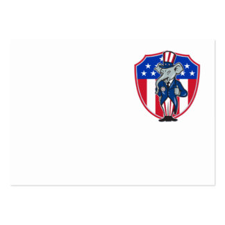 Republican Elephant Mascot Thumbs Up USA Flag Business Card Templates