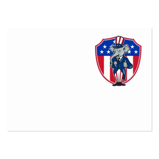 Republican Elephant Mascot Thumbs Up USA Flag Business Card Templates
