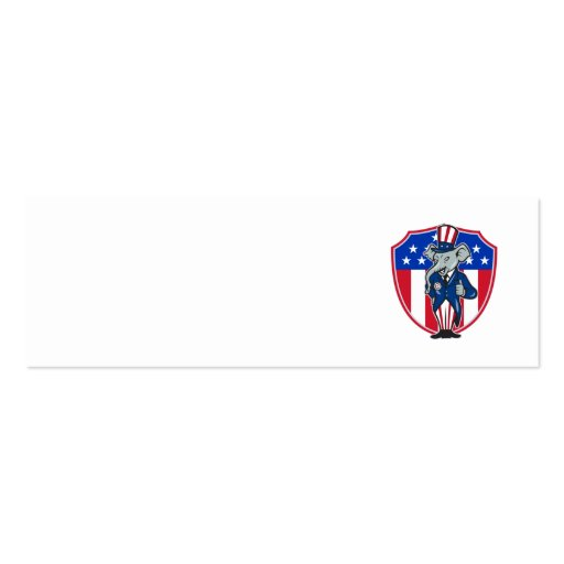 Republican Elephant Mascot Thumbs Up USA Flag Business Cards
