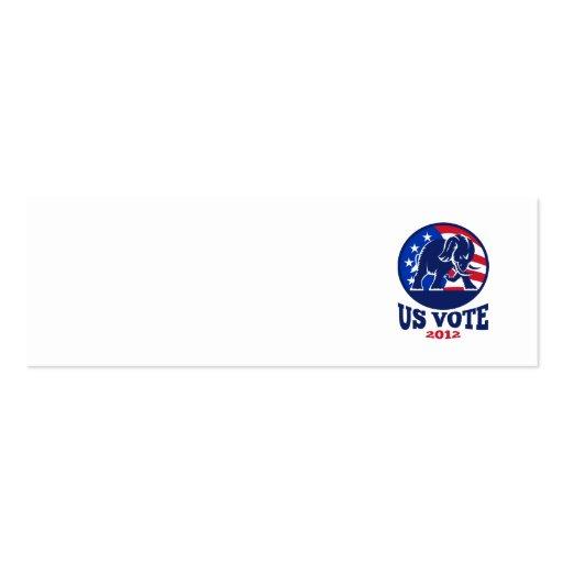 Republican Elephant Mascot USA Flag Business Card Template